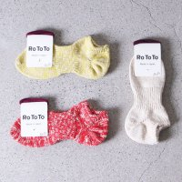 RoToTo (ロトト) Lowgauge Slub Socks Short