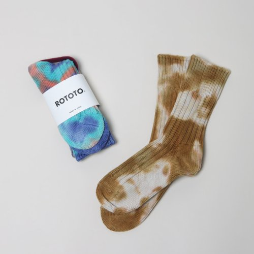 RoToTo (ロトト) Organic Cotton Tie Dye Socks Short