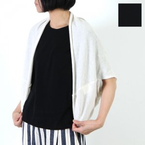evameva (エヴァムエヴァ) Linen cotton bolero