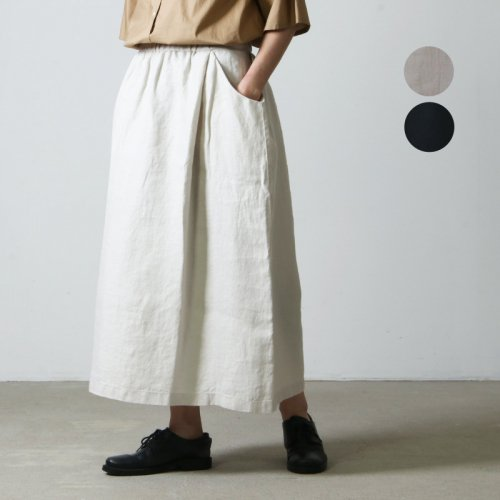 evameva (エヴァムエヴァ) Chambray drop pocket skirt