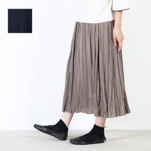 mizuiro ind (ミズイロインド) ワッシャプリーツロングスカート