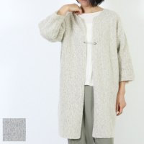 evameva (エヴァムエヴァ) Silk wool robe / シルク ウール ローブ