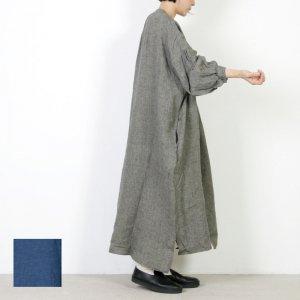 UNIVERSAL TISSU (ユニバーサルティシュ) リネングレンチェックシャツドレス