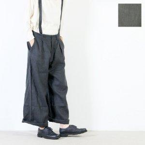 [THANK SOLD] style + confort (スティールエコンフォール) ノルマンディーリネン サスペンダーパンツ
