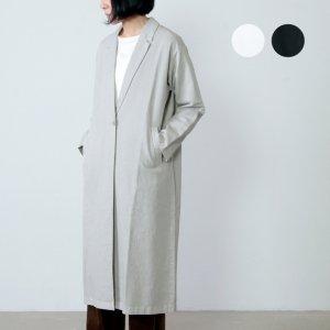 evameva (エヴァムエヴァ) cotton paper long jacket / コットンペーパーロングジャケット