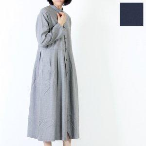 style + confort (スティールエコンフォール) フランネルツイルロングシャツワンピース