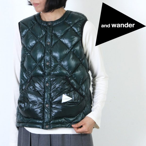 and wander(アンドワンダー) diamond stitch down vest For Woman size:0