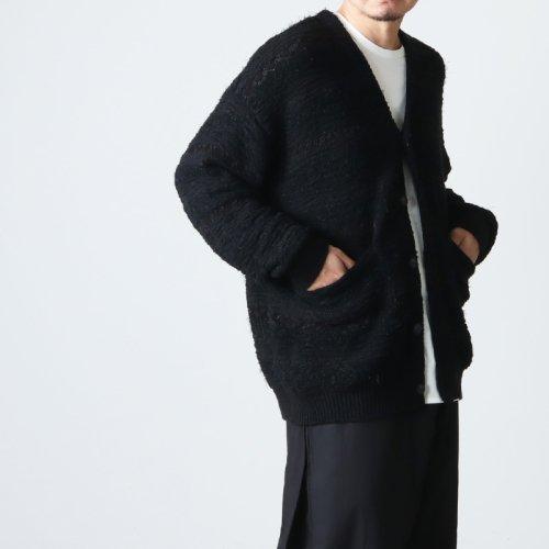 crepuscule (クレプスキュール) Whole Garment V/N Zip Cardigan / ホールガーメント Vネック ジップカーディガン