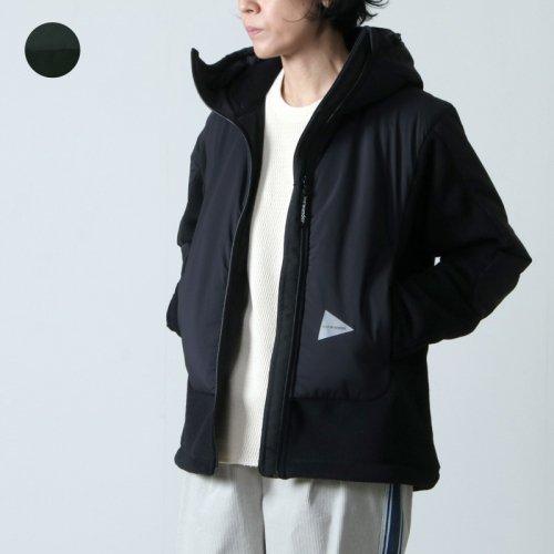 and wander (アンドワンダー) top fleece jacket for woman / トップフリースジャケット レディース