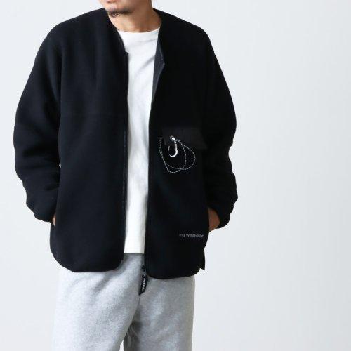 and wander (アンドワンダー) twill fleece jacket For Man / ツイルフリースジャケット メンズサイズ
