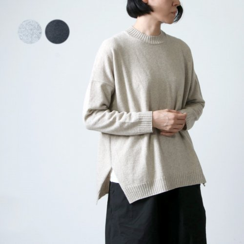 evameva (エヴァムエヴァ) Wool angora pullover / ウール アンゴラ プルオーバー