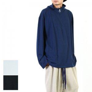 FUKAMI (フカミ) STAND NECK HALF ZIP LONG TEE / スタンドネック ハーフジップロンT