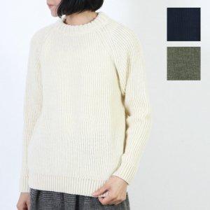 Kerry Woollen Mills (ケリーウーレンミルズ) Fisherman Rib Crew Neck Sweater LITE #WOMEN / フィッシャーマンリブクルーネックセーター