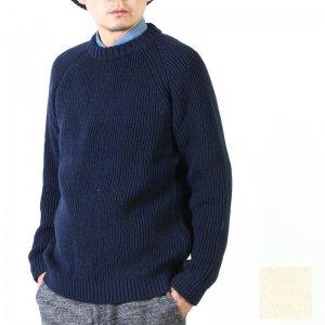 Kerry Woollen Mills (ケリーウーレンミルズ) Fisherman Rib Crew Neck Sweater LITE #MEN / フィッシャーマンリブクルーネックセーター