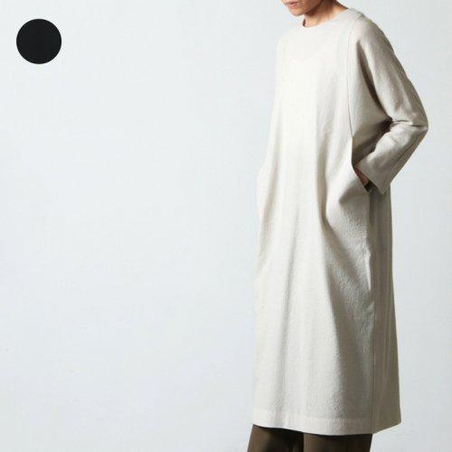 evameva (エヴァムエヴァ) Wool side tuck onepiece / ウール サイドタックワンピース