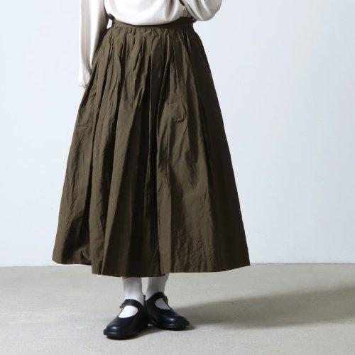 YAECA (ヤエカ) WRITE TUCK SKIRT Cotton Linen / ライトタックスカートコットンリネン