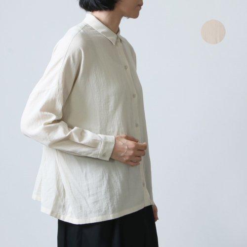 evameva (エヴァムエヴァ) cotton square shirt / コットンスクエアシャツ