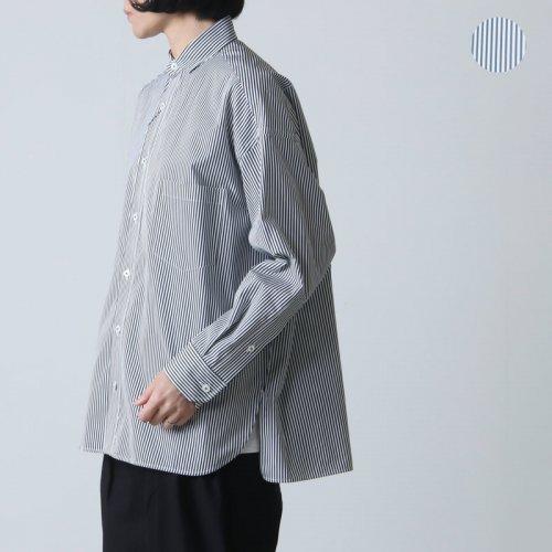 TICCA (ティッカ) スクエアビッグシャツ Five line stripe