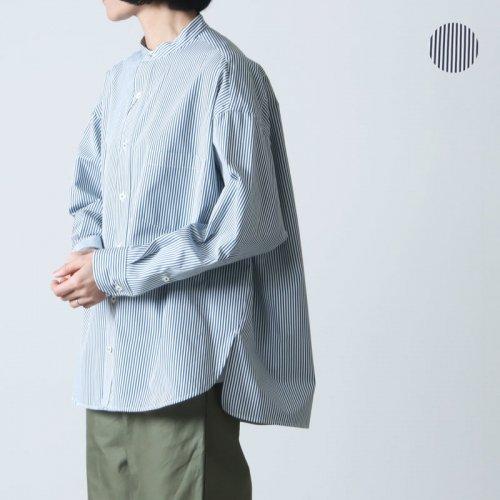 TICCA (ティッカ) スクエアビッグシャツ White loop stripe