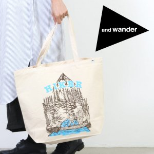 and wander (アンドワンダー) canvas tote bag / キャンバストートバッグ