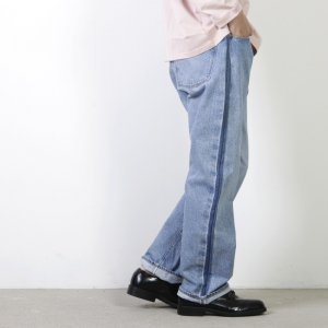 KAPTAIN SUNSHINE (キャプテンサンシャイン) Baggy Cut Straight Denim Pants Washed / バギーカットストレートデニムパンツ 加工