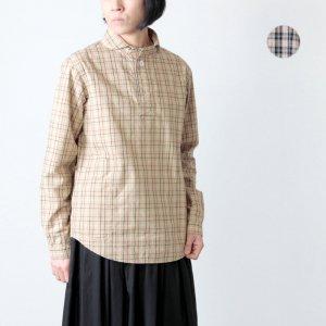 LOLO (ロロ) 定番プルオーバー型 グレンチェックシャツ / Women