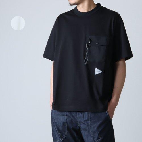 and wander (アンドワンダー) quarted printed T by Yu nagaba For Men / カルテットプリントTシャツ メンズサイズ