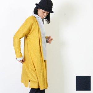 style + confort (スティールエコンフォール) リネン天竺ロングカーディガン