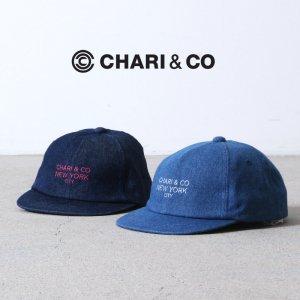 [THANK SOLD] CHARI&CO (チャリアンドコー) GOTHAM LOGO DENIM SV 6PANEL CAP / ゴッサムロゴ ショートバイザー 6パネルキャップ