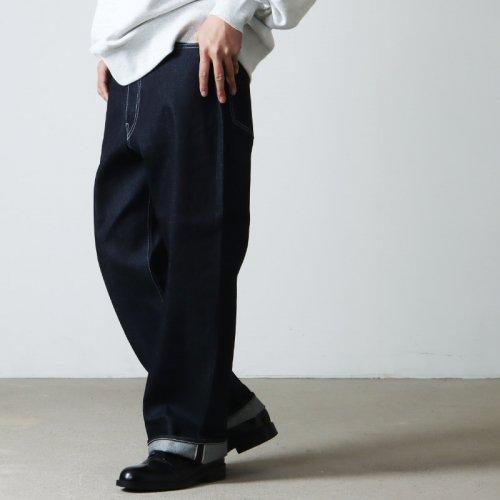 [THANK SOLD] Graphpaper (グラフペーパー) Denim Baggy Pant SX / デニムバギーパンツ サックス