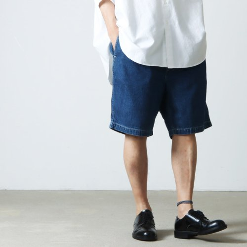 Graphpaper (グラフペーパー) Denim Baggy Shorts SX / デニムバギーショーツ サックス