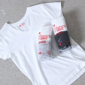 Hanes (ヘインズ) 2P Japanfit forHER VネックTシャツ / アソートカラー