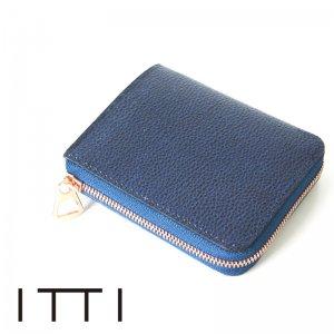 ITTI (イッチ) CRISTY VERY COMPACT WLT/藍桟革 / クリスティーベリーコンパクトウォレット/藍桟革