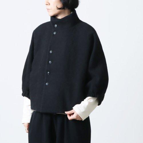 Vlas blomme (ヴラスブラム) リネンコットン 二重織 ソフトテーラードジャケット
