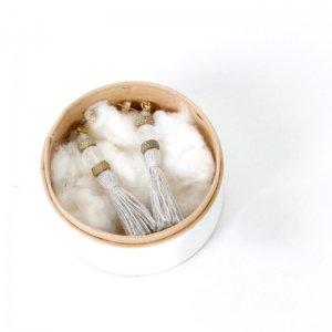 Vlas blomme (ヴラスブラム) タッセル×パール and クウォーツピアス