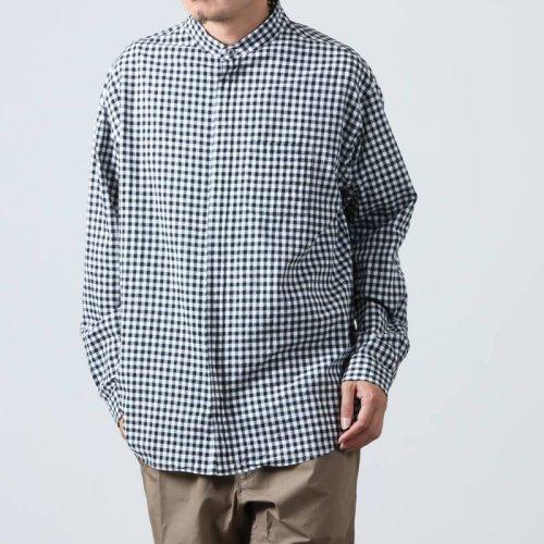 nisica (ニシカ) ギンガムチェックガンジーシャツ