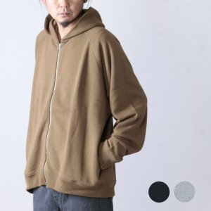 Graphpaper (グラフペーパー) LOOPWHEELER for Graphpaper Zip Parka / ループウィラー×グラフペーパー ジップパーカー