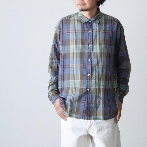 KAPTAIN SUNSHINE (キャプテンサンシャイン) Italian Collar Safari Shirt / イタリアンカラーサファリシャツ