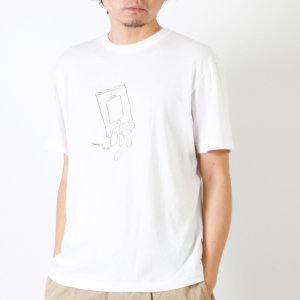 YAECA (ヤエカ) Ken Kagami PRINT TEE-chips- / ケンカガミ プリントTシャツ チップス