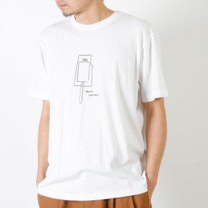 YAECA (ヤエカ) Ken Kagami PRINT TEE-ice cream- / ケンカガミ プリントTシャツ アイスクリーム