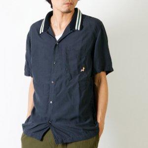 REMI RELIEF (レミレリーフ) レーヨン衿付きオープン半袖シャツ
