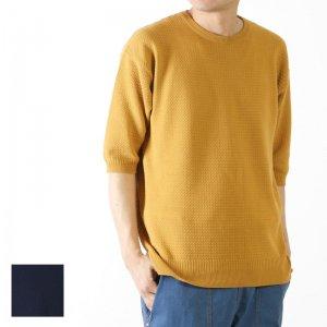 [THANK SOLD] RICEMAN (ライスマン) Seed Stitch Half Sleeve Knit / シードスティッチ ハーフスリーブニット