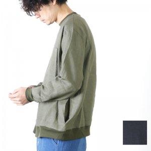 weac. (ウィーク) リネンビッグスウェットシャツ
