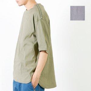 RICEMAN (ライスマン) Shoulder Zip Half Sleeve Shirt / ショルダージップ ハーフスリーブシャツ