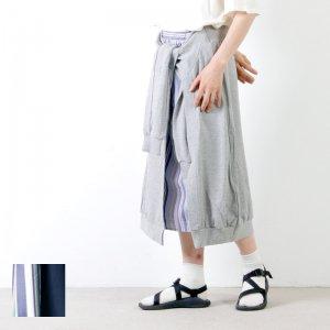 blanc basque (ブランバスク) 裏毛×ストライプスカート