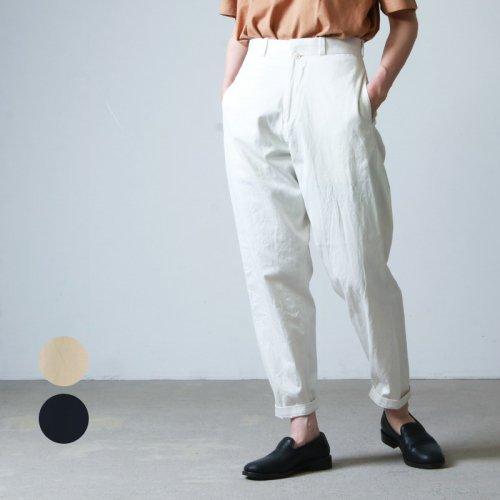 YAECA (ヤエカ) CHINO CLOTH PANTS TUCK TAPRED / チノクロスパンツタックテーパード