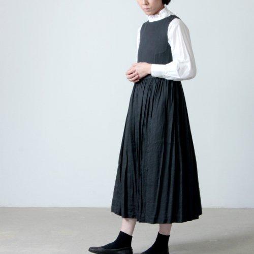 YAECA (ヤエカ) WRITE TUCK DRESS NO SLEEVE / ライトタックドレスノースリーブ