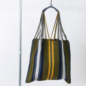 pips (ピップス) HAMMOCK BAG Green stripe / ハンモックバッグ グリーンストライプ