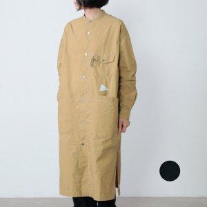 and wander (アンドワンダー) CORDURA typewriter long shirt for woman / コーデュラタイプライターロングシャツ レディース