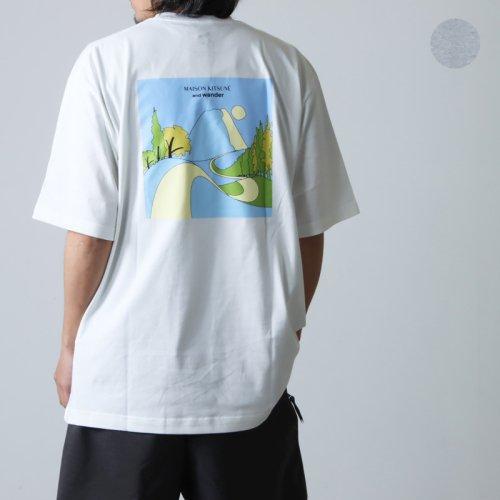 and wander (アンドワンダー) cotton reflect T for man / コットンリフレクト Tシャツ メンズ